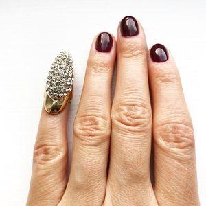 Gold & diamond talon claw ring